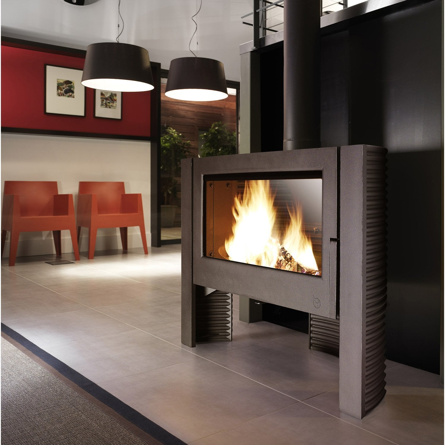 Po le bois invicta itaya anthracite 6110 44 12 kw - Photo poele a bois ...