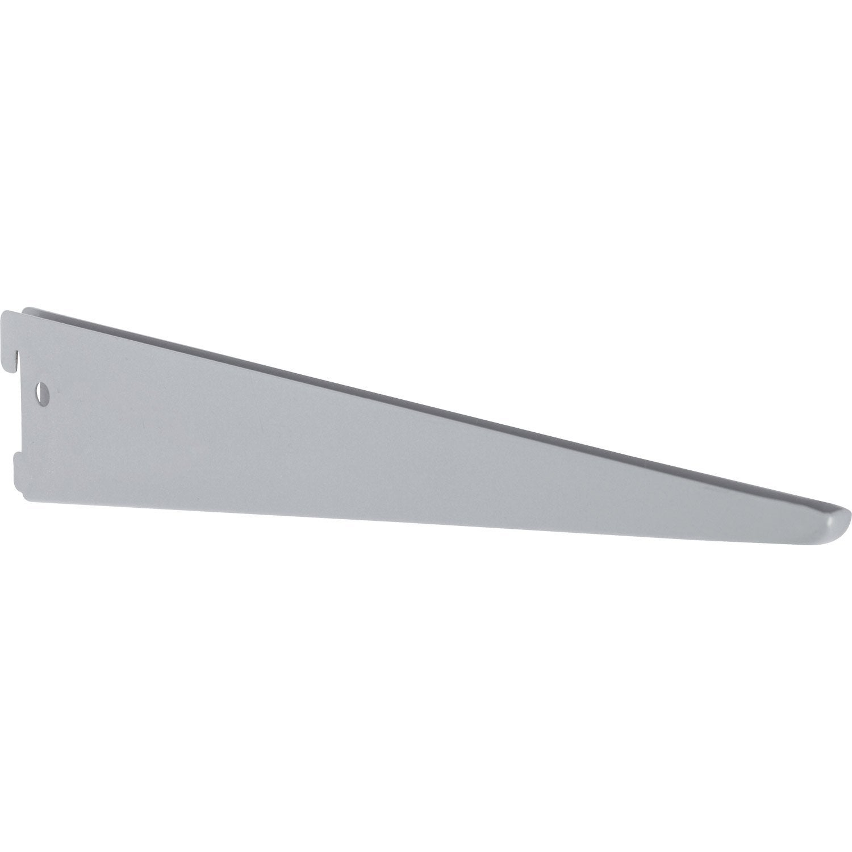 Console double en acier epoxy prof 37cm entraxe 50mm - Epoxi leroy merlin ...