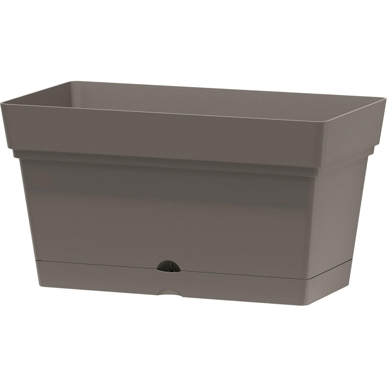 bac r serve d 39 eau en plastique deroma coloris taupe 70. Black Bedroom Furniture Sets. Home Design Ideas
