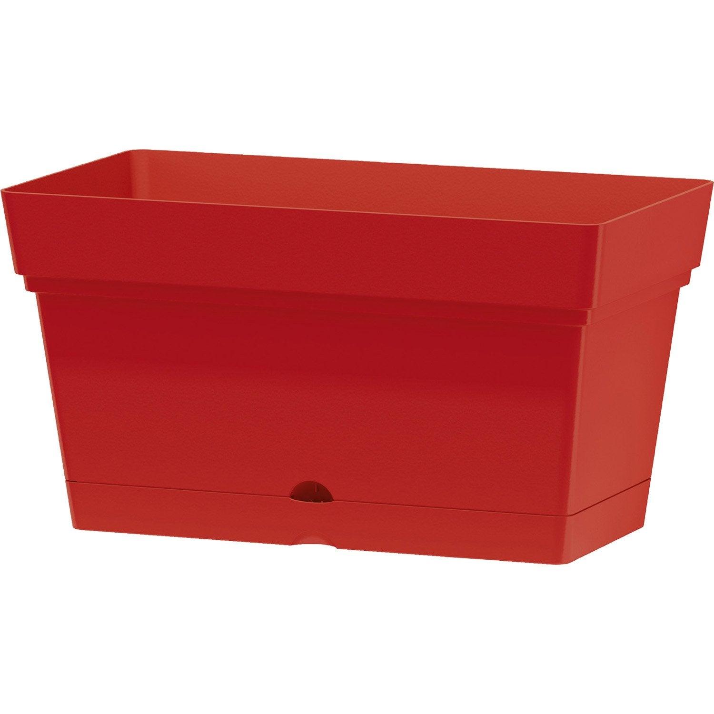 Bac r serve d 39 eau en plastique deroma coloris rouge 70 for Bac plastique poisson rouge