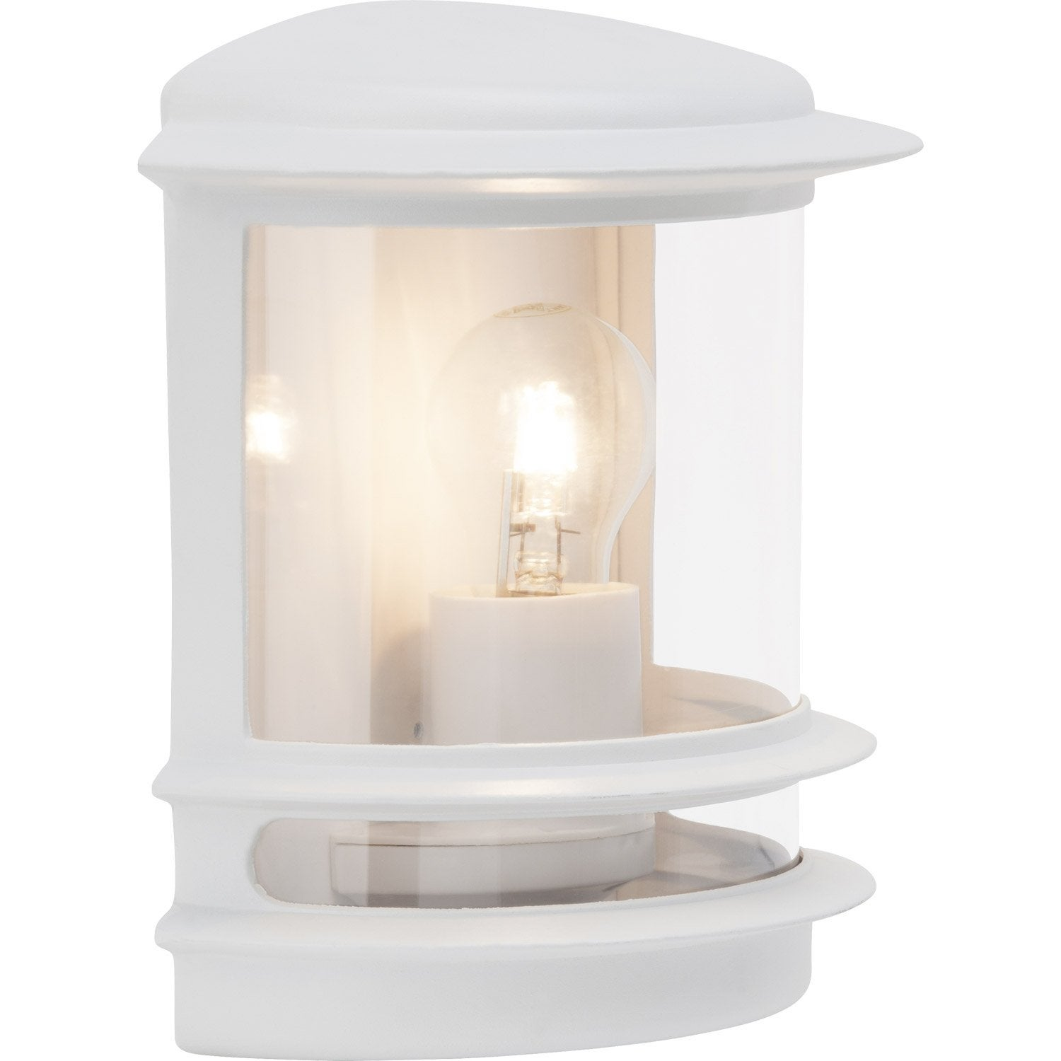 Demi applique ext rieure hollywood e27 blanc brilliant - Lanterne exterieur leroy merlin ...