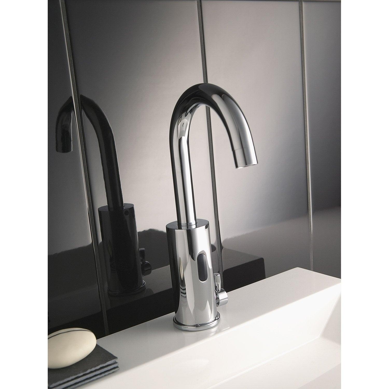mitigeur de lave mains eau chaude et froide infrarouge chrom impuls leroy merlin. Black Bedroom Furniture Sets. Home Design Ideas