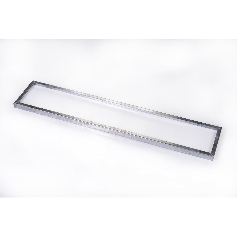 cadre pour grille caillebotis acier galvanis x cm scover plus leroy merlin. Black Bedroom Furniture Sets. Home Design Ideas