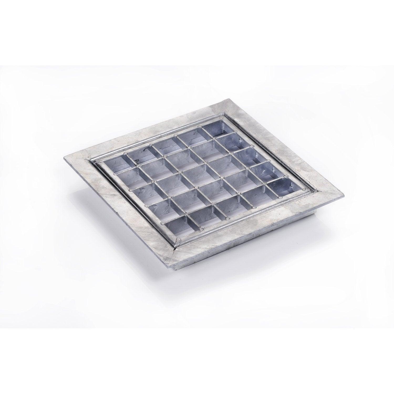 grille caillebotis cadre 195x195 mm leroy merlin. Black Bedroom Furniture Sets. Home Design Ideas
