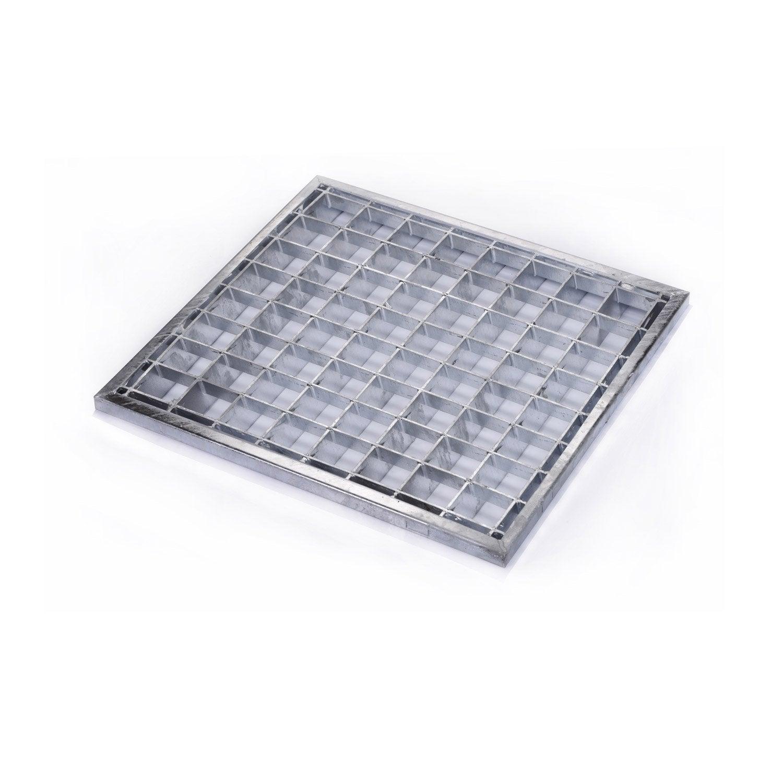 Grille caillebotis acier galvanis x cm for Carrelage 32x32