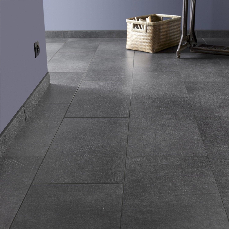 Carrelage sol et mur noir effet b ton asphalte x for Carrelage gris anthracite salissant