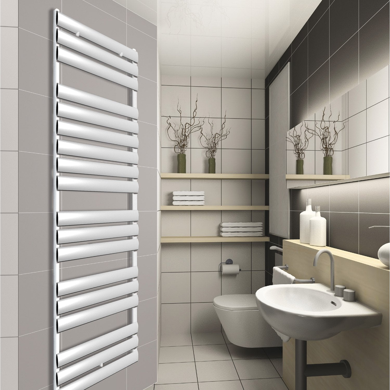 s che serviettes eau chaude aluminium modena chrom 725 w leroy merlin. Black Bedroom Furniture Sets. Home Design Ideas