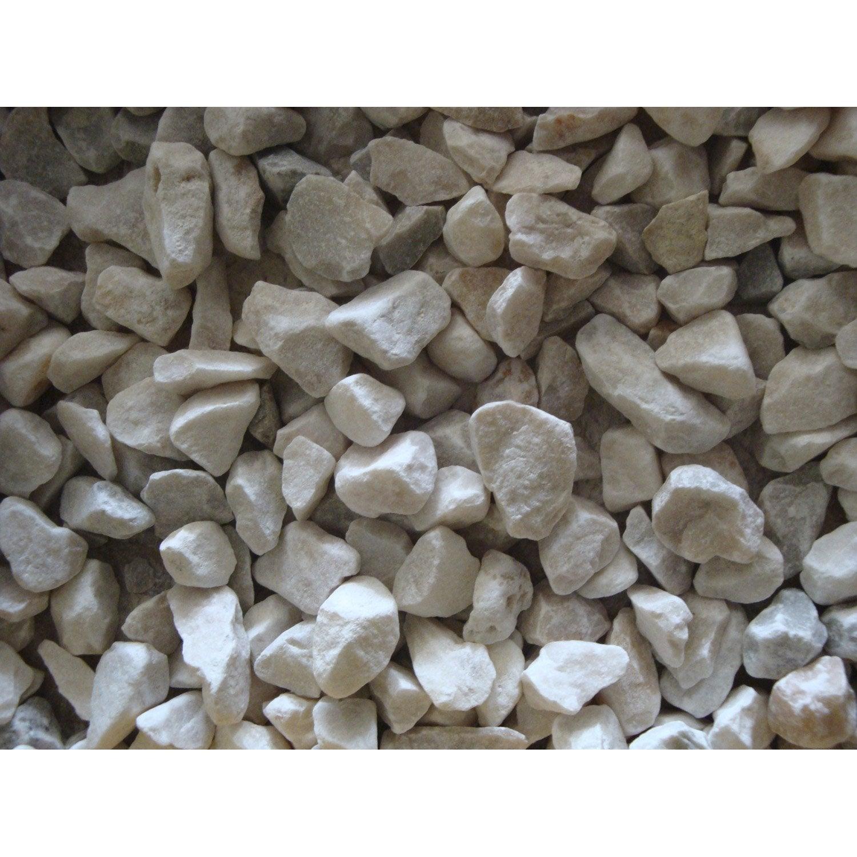 graviers pierre naturelle blanc quartz blanc 6 14mm 25 kg. Black Bedroom Furniture Sets. Home Design Ideas