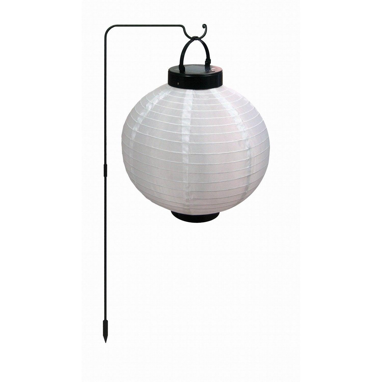 lanterne solaire santiago inspire noir blanc leroy merlin. Black Bedroom Furniture Sets. Home Design Ideas