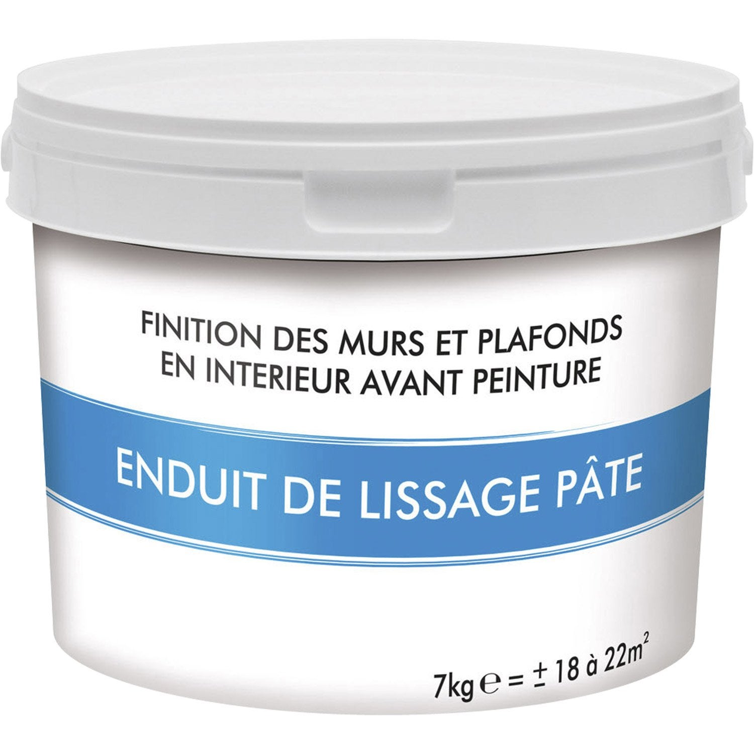 Enduit de lissage p te 7 kg leroy merlin for Video enduit de lissage