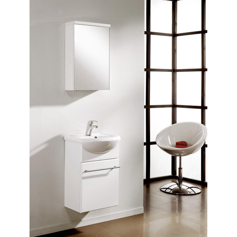 Meuble de salle de bains suspendre infinity blanc - Meubles salle de bains leroy merlin ...