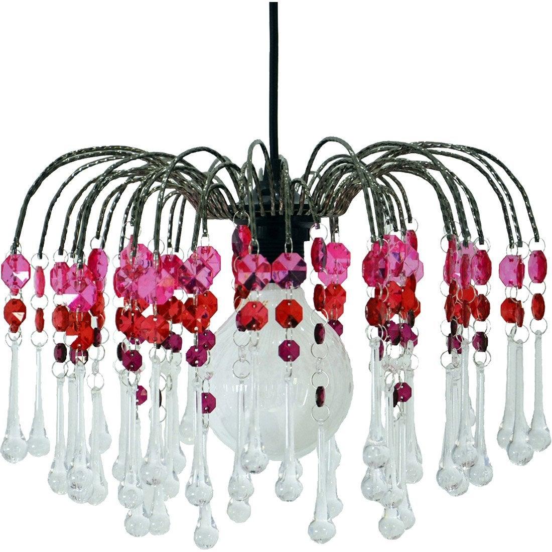suspension baroque mikonos acrylique rose et blanc 1 x 60 w boudet leroy merlin. Black Bedroom Furniture Sets. Home Design Ideas