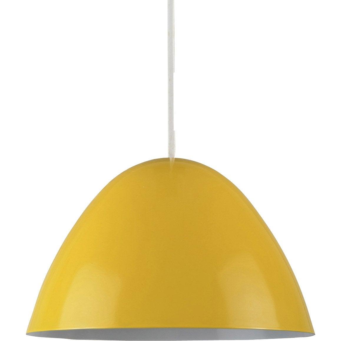 suspension nissa boudet jaune 60 watts diam 20 cm leroy merlin. Black Bedroom Furniture Sets. Home Design Ideas