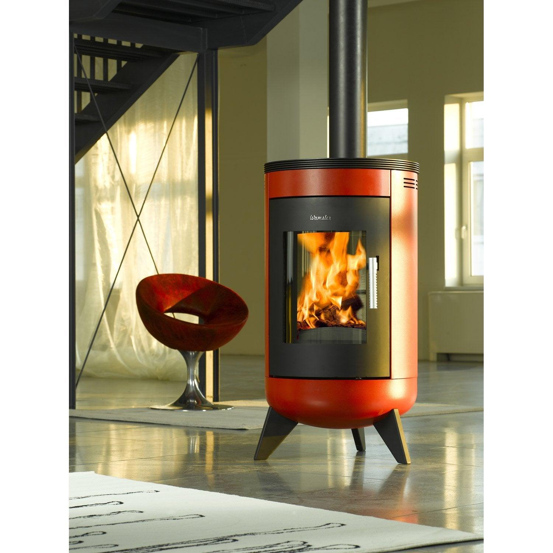 po le bois wamsler m tropolitan rouge 7 kw leroy merlin. Black Bedroom Furniture Sets. Home Design Ideas