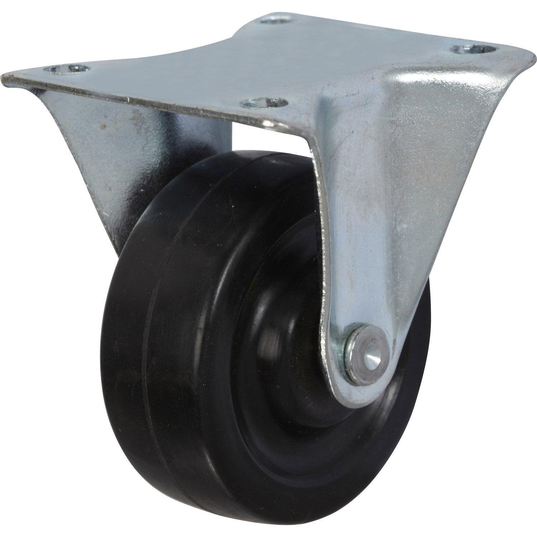 Roulette fixe platine pour ameublement diam tre 40 mm leroy merlin - Leroy merlin roulettes ...