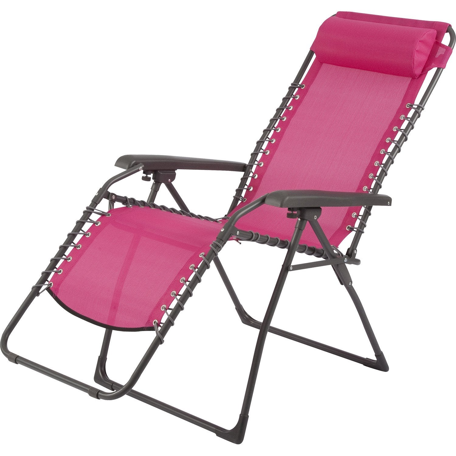 relax de jardin en acier lagon fuchsia leroy merlin. Black Bedroom Furniture Sets. Home Design Ideas