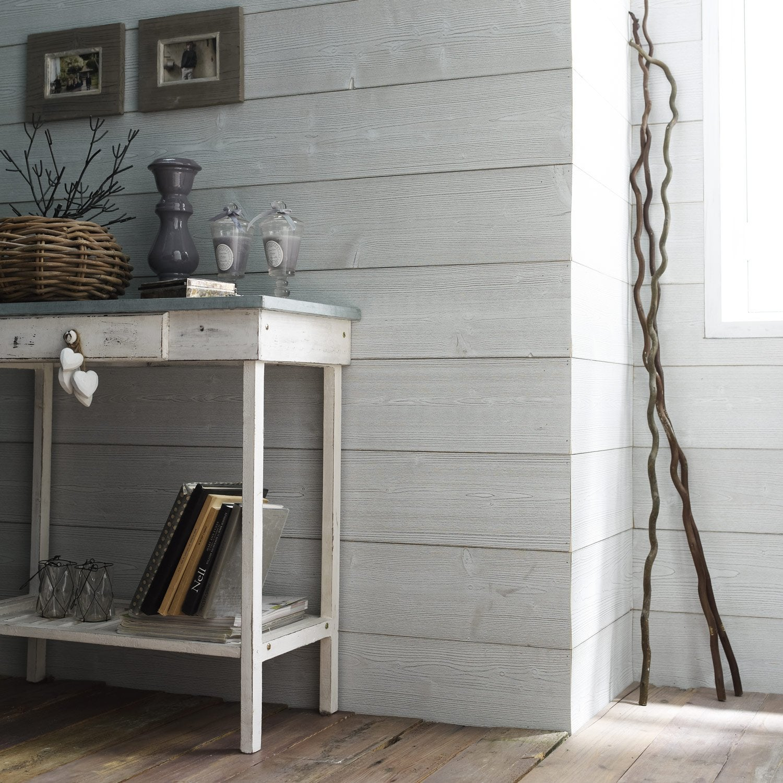 lambris bois pic a bross petits noeuds l 237 x l 18cm leroy merlin. Black Bedroom Furniture Sets. Home Design Ideas