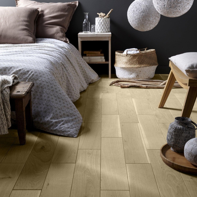 parquet massif ch ne brut l massif leroy merlin. Black Bedroom Furniture Sets. Home Design Ideas