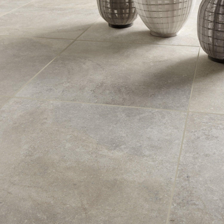 Carrelage sol et mur champagne effet pierre pietra x for Carrelage interieur leroy merlin