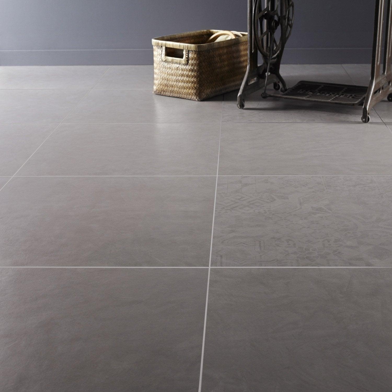 Carrelage sol et mur alliage effet b ton studio x l for Carrelage 60 x 60 gris