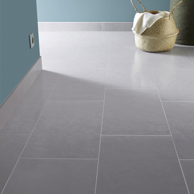 Carrelage sol et mur fer blanc reflex effet b ton studio x cm ler - Fer a beton leroy merlin ...