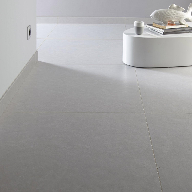 Carrelage sol et mur fer blanc effet b ton studio x cm leroy merlin - Carrelage gris mur blanc ...