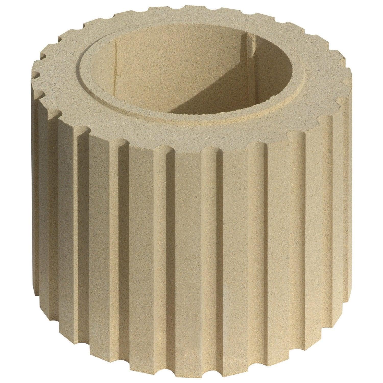 F t pour colonne cannel e ton pierre leroy merlin - Habillage colonne beton ...