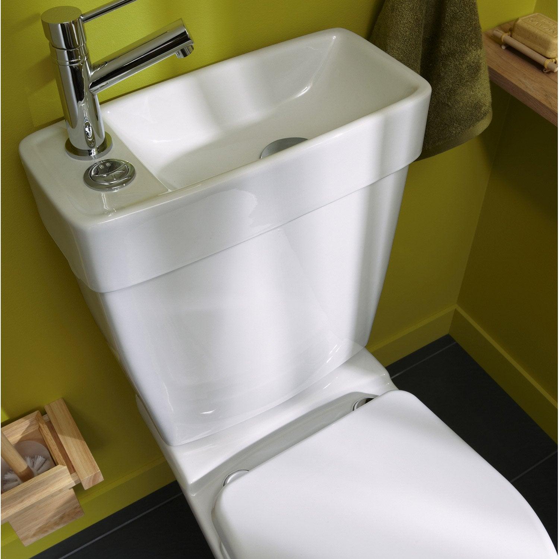 WC à poser gain de place Duo sortie horizontale  Leroy Merlin