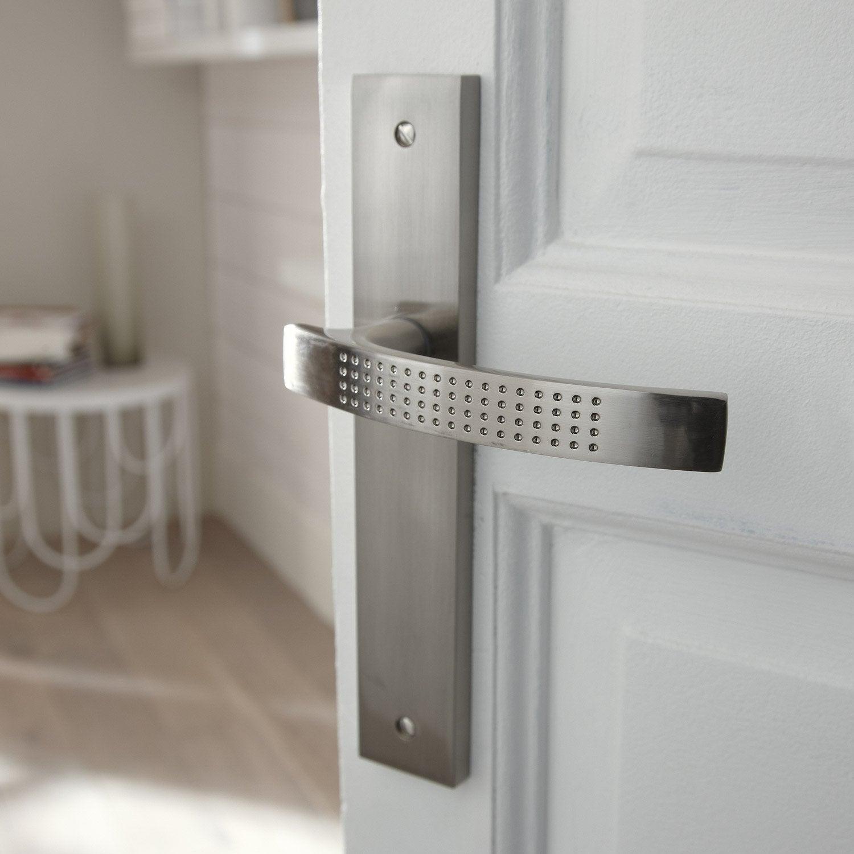 poign es de porte louna sans trou en zinc nickel entraxe. Black Bedroom Furniture Sets. Home Design Ideas