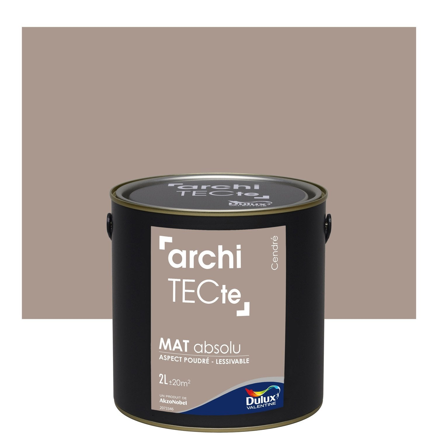 peinture gris cendre dulux valentine architecte 2 l leroy merlin. Black Bedroom Furniture Sets. Home Design Ideas