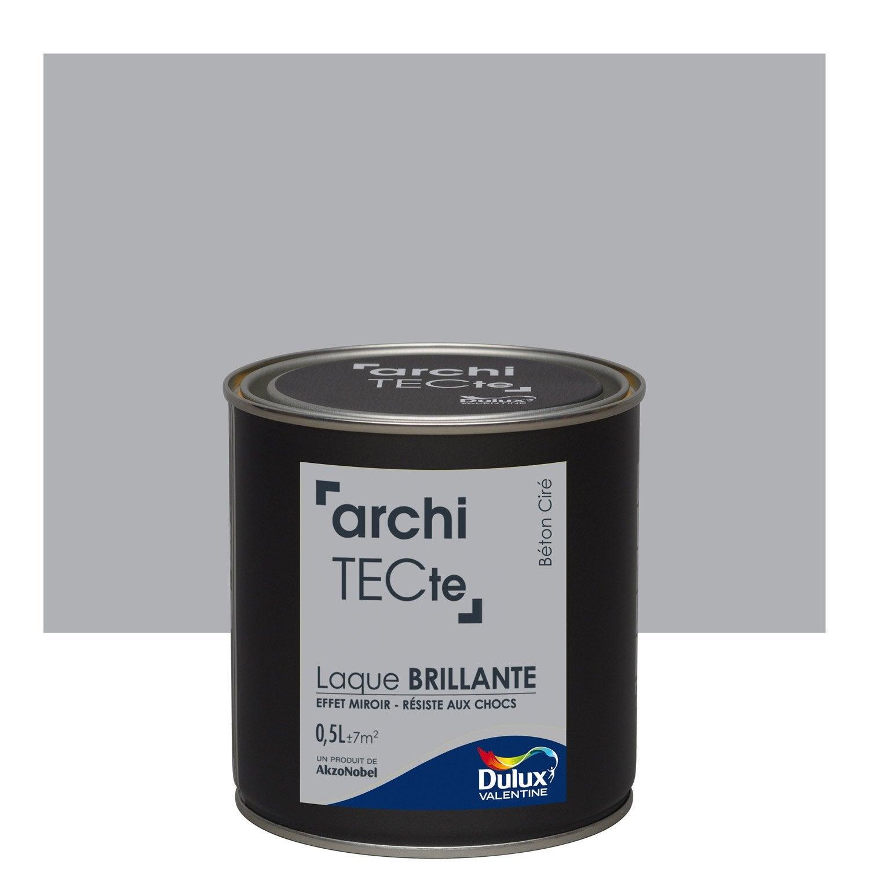 Peinture gris b ton cir dulux valentine architecte 0 5 l leroy merlin for Peinture beton cire