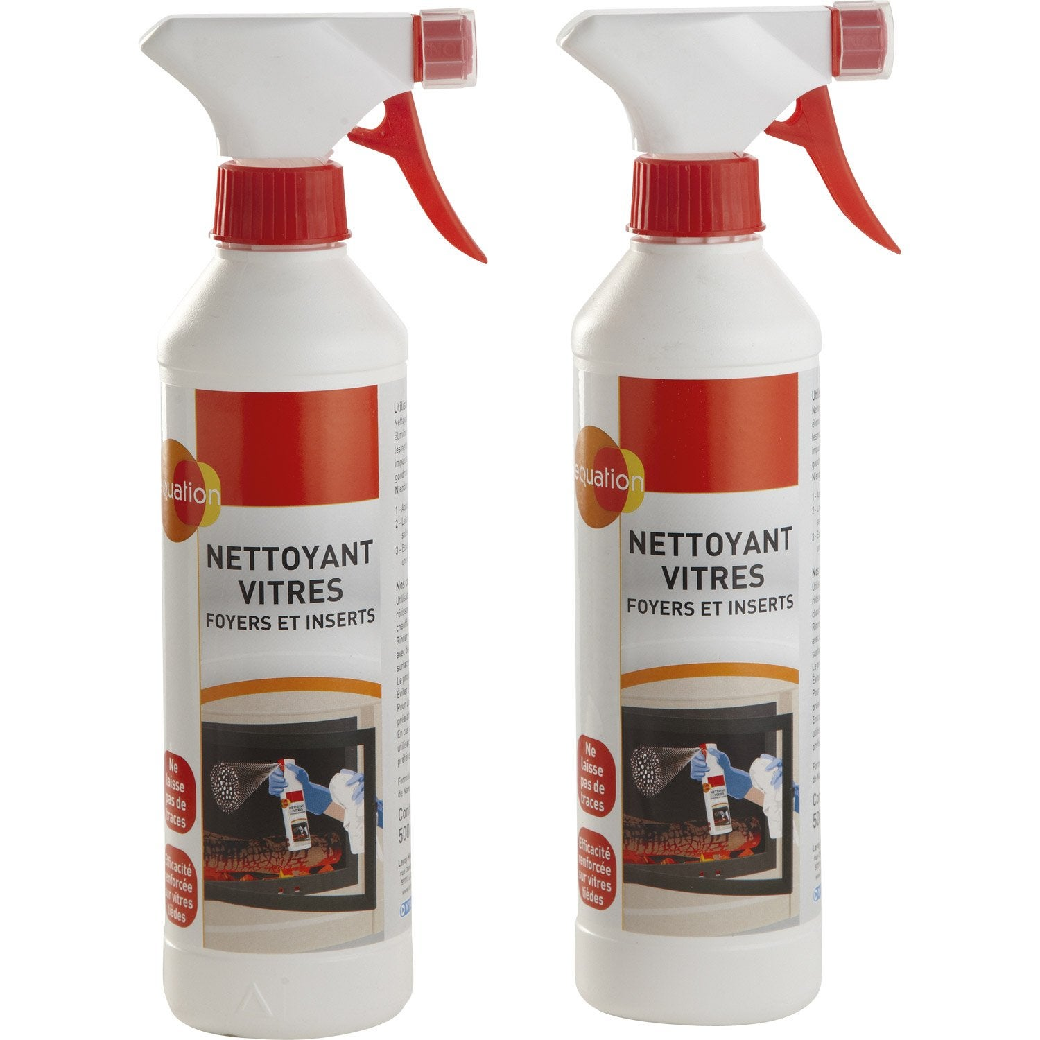 Lot de 2 nettoyants vitres equation 2 x 500 ml leroy merlin - Vitre baignoire leroy merlin ...
