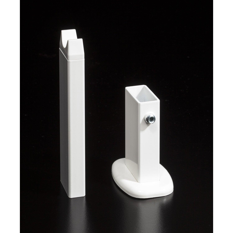 Pied blanc pour radiateur deltacalor firstone leroy merlin - Pied pour radiateur en fonte ...