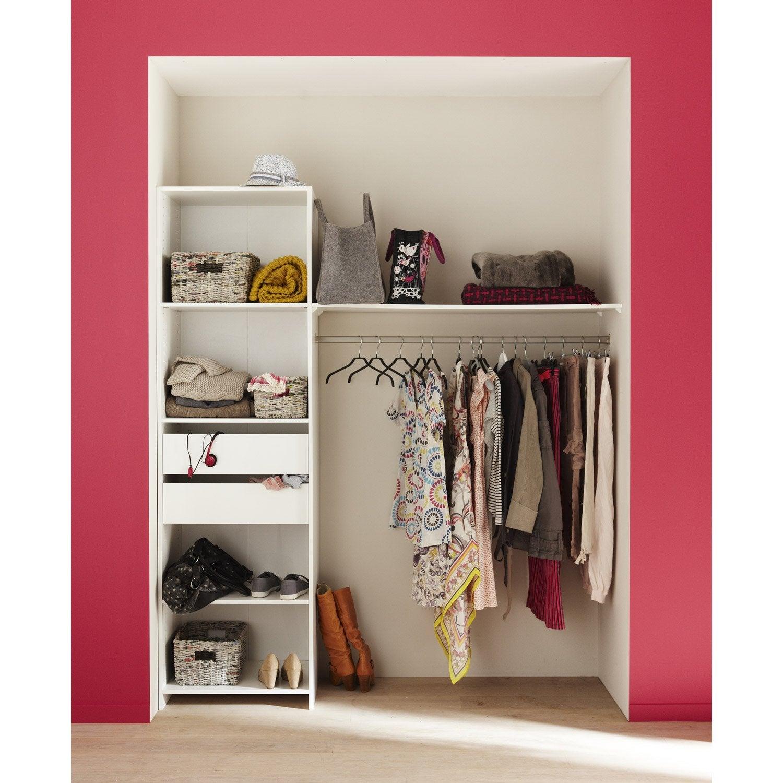 kit dressing blanc modul 39 kit x x cm. Black Bedroom Furniture Sets. Home Design Ideas