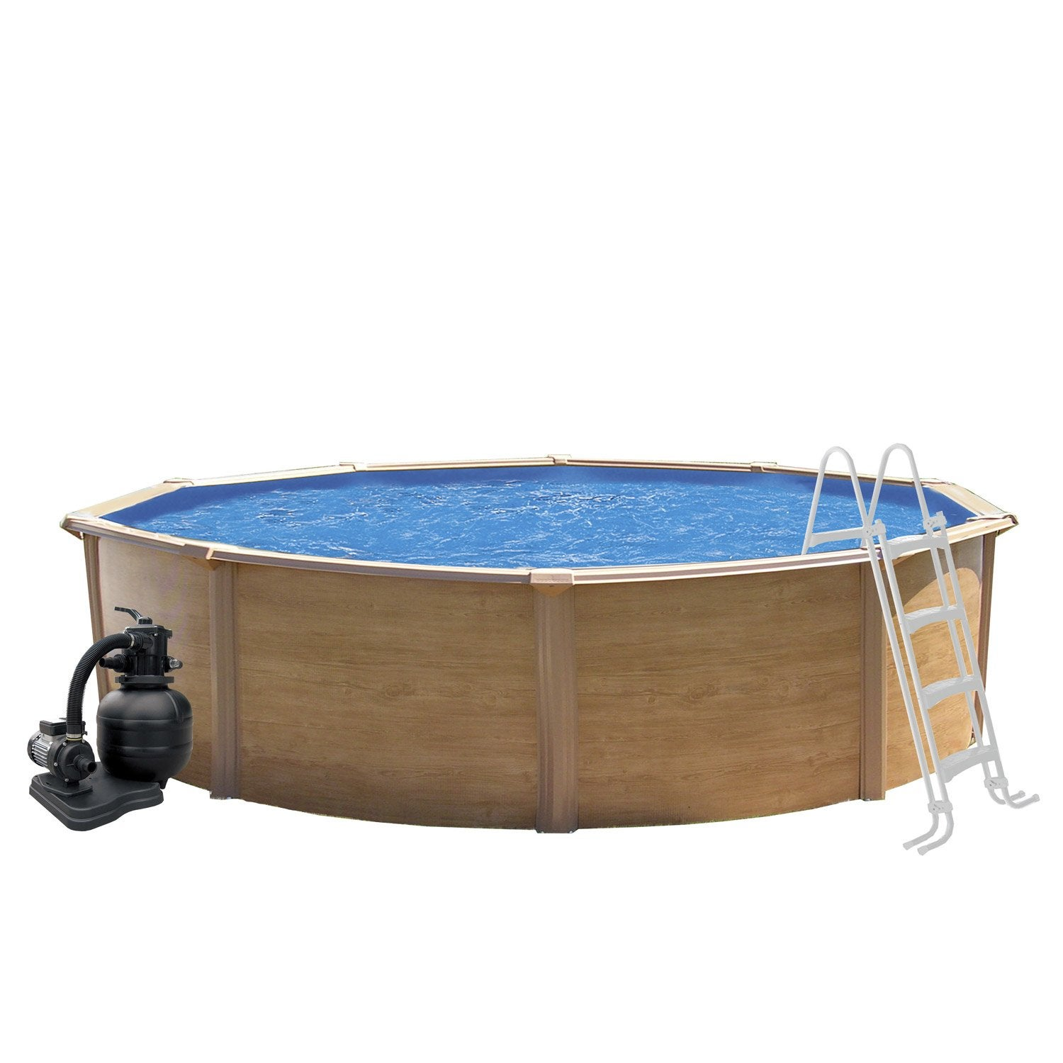 Piscine hors sol acier trigano canyon rondem leroy merlin for Le roy merlin piscine