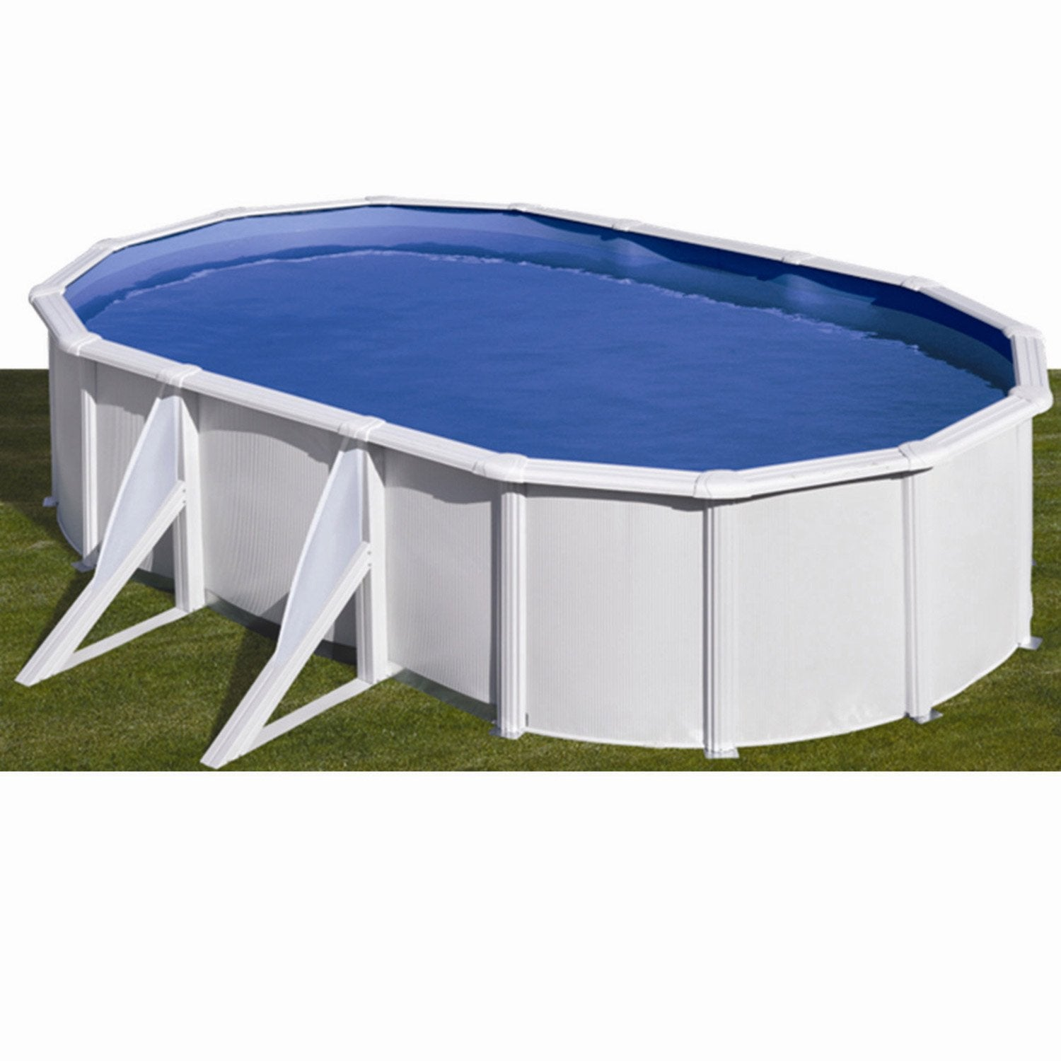 Piscine hors sol acier san clara l 5 x l 3 x h 1 2 m for Video x piscine
