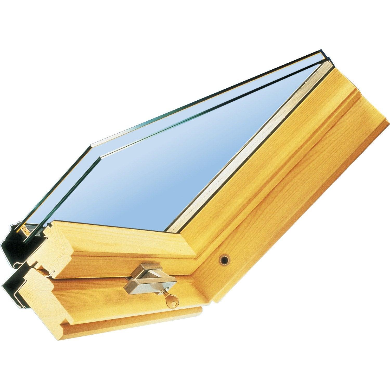 Vitrage standard 24 mm velux x cm leroy merlin for Prix vitrage velux remplacement
