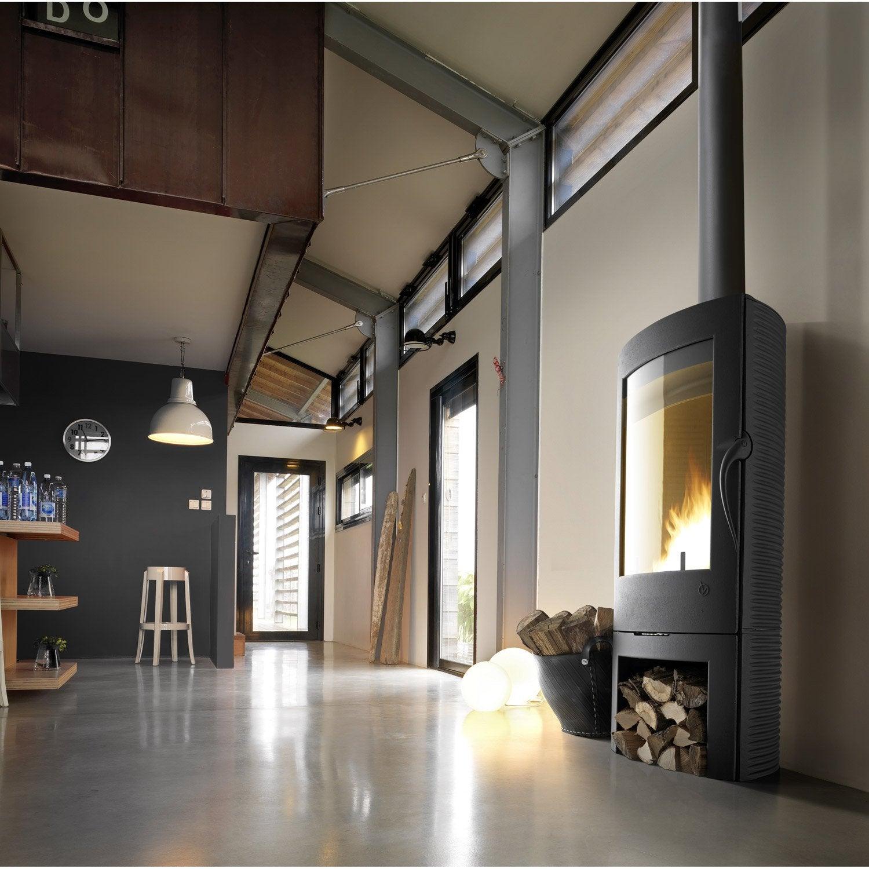 po le bois invicta argos anthracite 6151 44 12kw. Black Bedroom Furniture Sets. Home Design Ideas