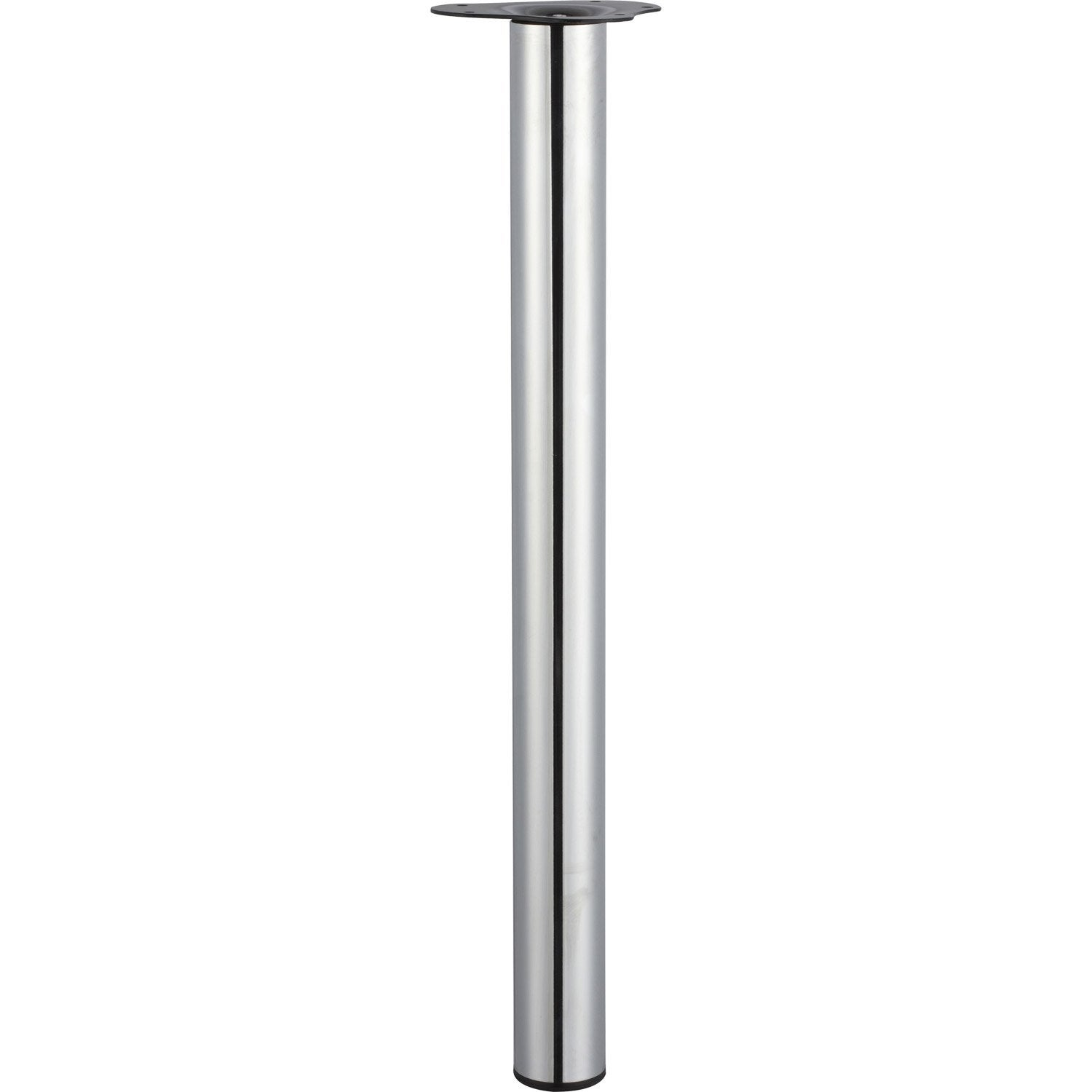 Pied de table cylindrique r glable acier chrom gris de 70 73 cm leroy merlin - Pied de table leroy merlin ...