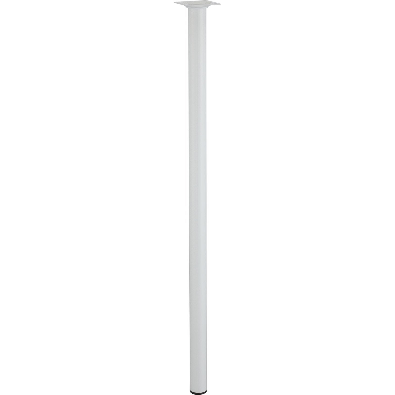 Pied de table basse cylindrique fixe acier poxy blanc 70 - Pieds de table leroy merlin ...