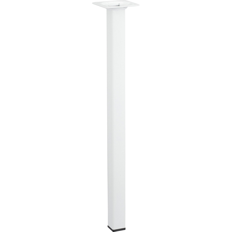 Pied de table basse carr fixe en acier epoxy blanc 40cm - Epoxi leroy merlin ...