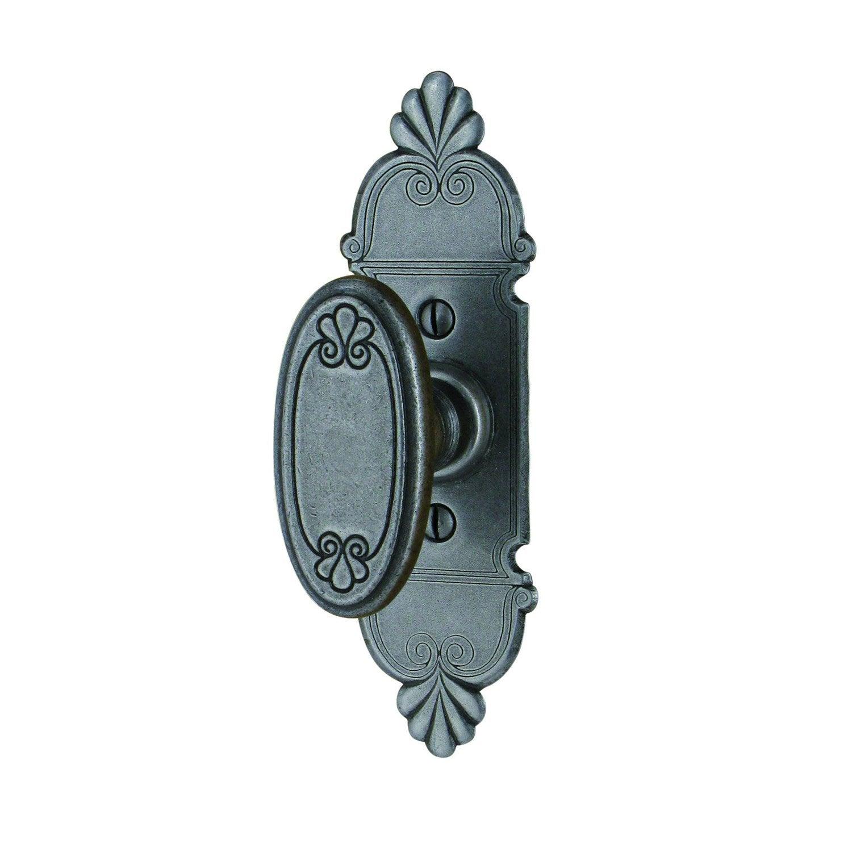 Poign e de porte en fer gris s rie mansart leroy merlin - Poignee de porte fer forge leroy merlin ...