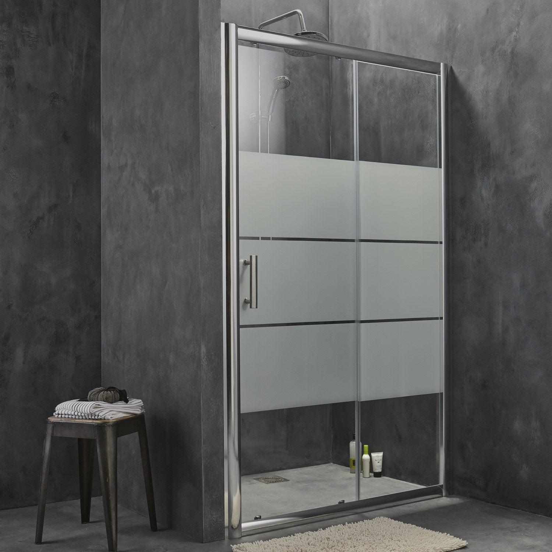 Porte de douche coulissante s rigraphi optima2 leroy - Porte verre coulissante leroy merlin ...