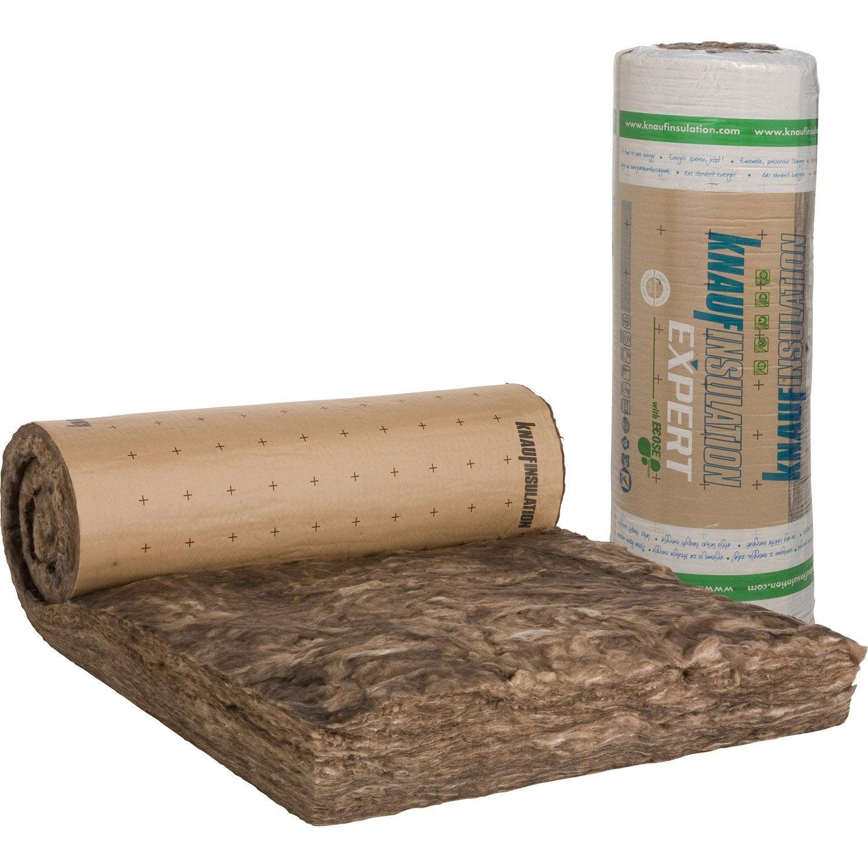 rouleau de laine de verre 040 kraft knauf insulation mm leroy merlin. Black Bedroom Furniture Sets. Home Design Ideas