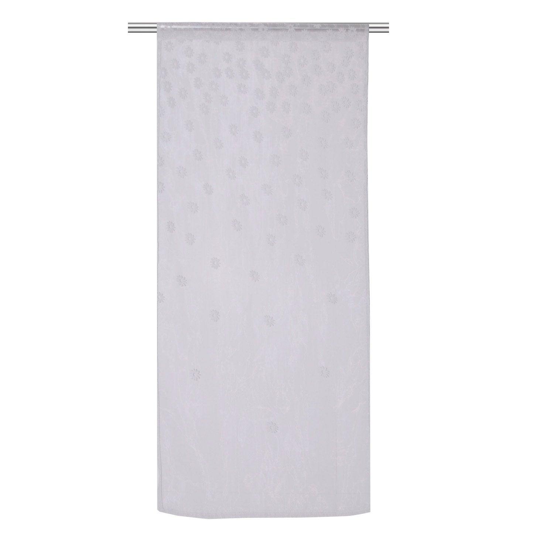 Vitrage daisy blanc 80 x 160 cm leroy merlin - Leroy merlin vitrage ...