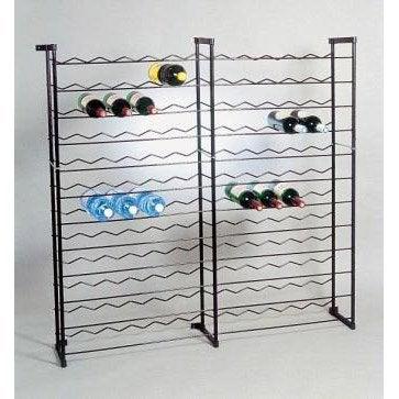 Casier de 144 bouteilles en acier plastifi leroy merlin - Leroy merlin casier rangement ...