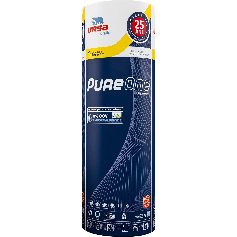 Laine de verre pureone by ursa kraft 2 7 x 1 2 m ep 240 for Laine de verre ursa prix
