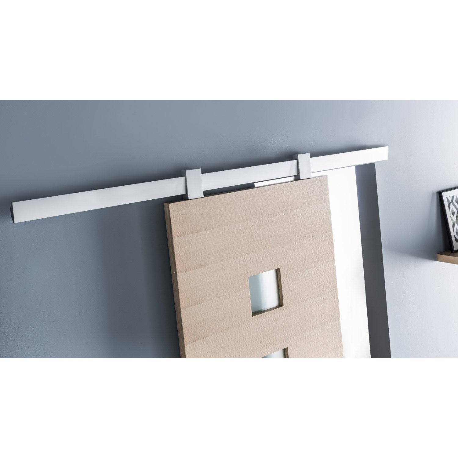 Rail coulissant gota pour porte de largeur 93 cm maximum for Porte 93 cm castorama