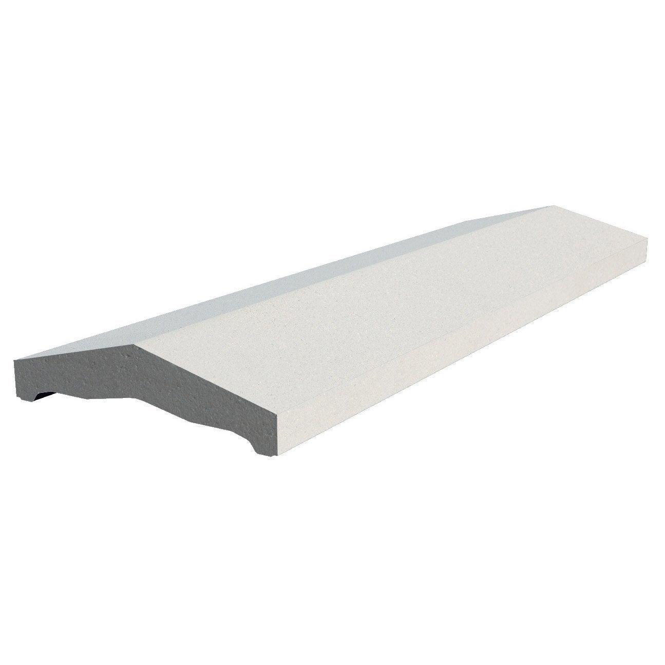 couvre mur 2 pans classique lisse blanc h 4 x x. Black Bedroom Furniture Sets. Home Design Ideas