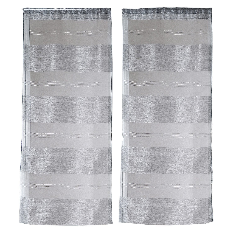 paire de vitrages tamisant petite hauteur cannes gris x cm leroy merlin. Black Bedroom Furniture Sets. Home Design Ideas